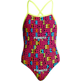 Funkita Strapped In One Piece Traje de Baño Niñas, code breaker
